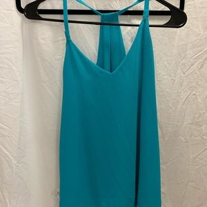 Turquoise dressy tank top